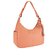 As Is Isaac Mizrahi Live! Bridgehampton Pebble Leather Hobo - A257581
