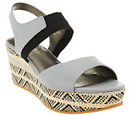 Me Too Leather Gored Wedges w/ Printed Bottom - Cara - A264781