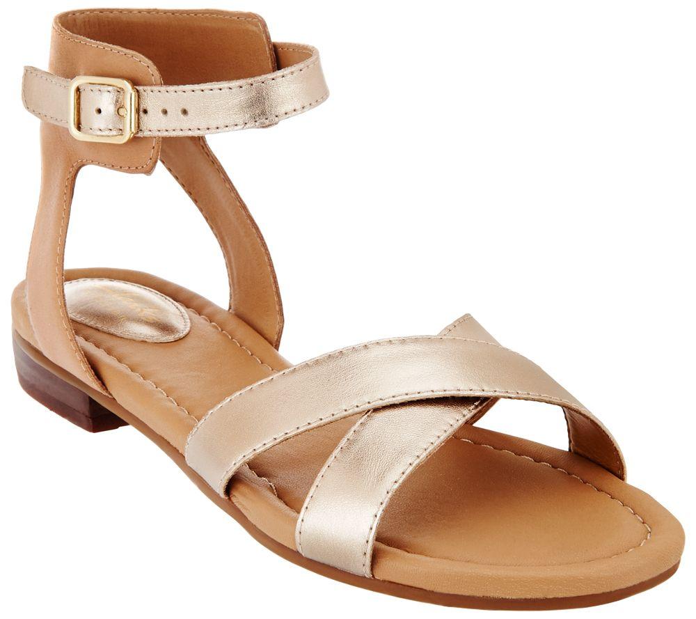 Clarks Artisan Sandals w/ Adjustable Ankle Strap - Viveca Zeal - Page 1 —  QVC.com