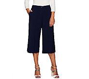 Susan Graver Chelsea Stretch Comfort Waist Zip Front Gaucho Pants - A267981