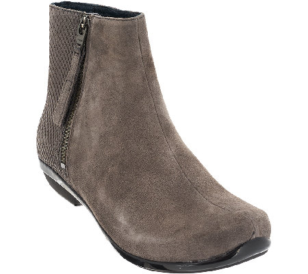 dansko leather or suede ankle boots otis qvc