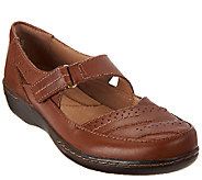 As Is Clarks Leather Mary Janes - Evianna Date - A269081