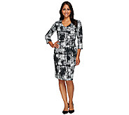 Kelly by Clinton Kelly Faux Wrap Dress with Self Belt - A272581