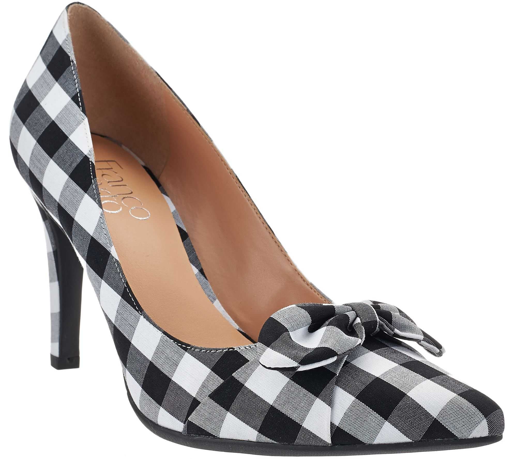 Franco Sarto Pointed Toe Pumps with Bow Detail - Arabella - A274581