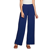 Denim & Co. Beach_Regular Solid Pull-On Pants with Pockets - A276081