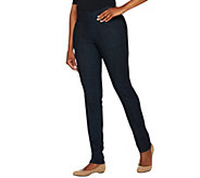 Denim & Co. How Smooth Petite Denim Straight Leg Pants - A279681