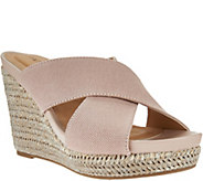 As Is Me Too Canvas Cross Strap Slide Wedges - Athena - A284081