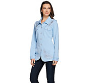 As Is Quacker Factory Embellished French Terry Jeanne Jacket - A291281