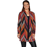 Susan Graver Chevron Lurex Knit Duster - A297681