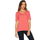 As Is Belle by Kim Gravel Essentials Elbow Sleeve Scoop Neck Top - A301481