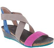 Naot Leather Cross Strap Wedge Sandals - Vixen - A303481