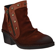 As Is FLY London Suede Ankle Boots w/Stud Details - Duke - A304881