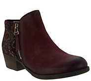 As Is Miz Mooz Leather Ankle Boots w/ Zipper Detail- Bangkok - A307781