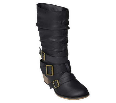 journee collection s gossip mid calf boots qvc