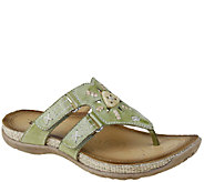 Earth Leather Thong Slide Sandals - Sisal - A336081