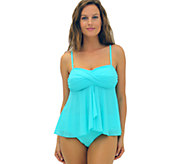 Fit 4 U Tummy Boy Meets Girl Flared Twist Bandeau Top - A337081