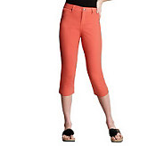 Women with Control Fly Front Capri Pants - A213882