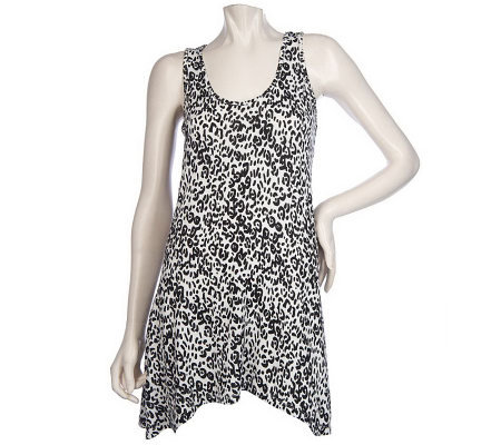 K-DASH by Kardashian Animal Print Swing Tank