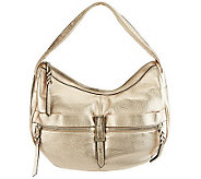 B. Makowsky Metropolitan Leather Zip Top Slouchy Hobo - A228882