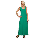Liz Claiborne New York Essentials Scoop Neck Knit Maxi Dress - A232582