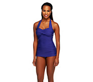 DreamShaper by Miraclesuit Caitlin Grape 1-Piece Halter Swimsuit - A253782