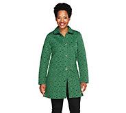 Isaac Mizrahi Live! Geo Floral Jacquard Knit Jacket - A257182