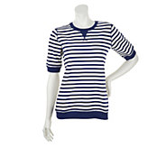 As Is Denim & Co. Active French Terry Short Sleeve Top - A259482