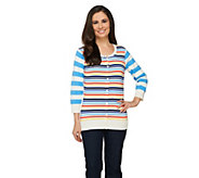 Liz Claiborne New York Mixed Stripe Cardigan - A262182