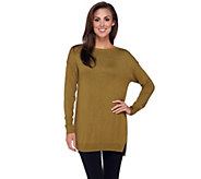 H by Halston Pullover Sweater Tunic with Hi-Low Hem - A262982