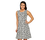 GK George Kotsiopoulos Printed Jacquard Fit & Flare Dress - A263782