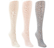 Tashon Pointelle Knit Knee High Boot Socks Set of Three - A264882