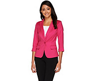 Kelly by Clinton Kelly 3/4 Sleeve Jacquard Blazer - A266482