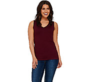 Susan Graver Sleeveless V-Neck Sweater - A267982