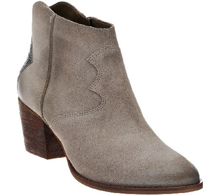 Marc Fisher Suede Ankle Boots - Stefani - Page 1 — QVC.com