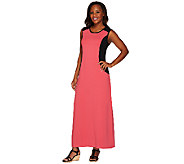 As Is Denim & Co. Color-Block Sleeveless Scoop Neck Maxi Dress - A273182