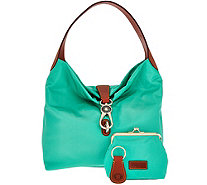 Dooney & Bourke Nylon Hobo with Logo Lock & Accessories - A275682