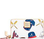 Dooney & Bourke MLB Braves Zip Around Phone Wristlet - A280882