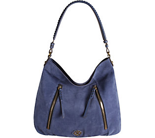 orYANY Italian Suede Hobo with Zipper Details - Laurie