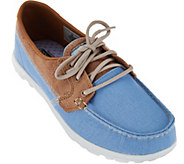 As Is Skechers On-the -Go Boat Shoes with Goga Mat -Breezy - A284082