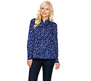 C. Wonder Constellation Print Carrie Blouse - A284182