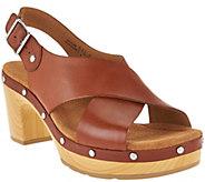 Clarks Artisan Leather Slingback Sandals - Ledella Club - A286282