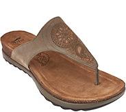 As Is Dansko Patterned Leather Thong Sandals -Priya - A286482