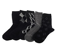 As IsPassione Angelico Set of 5 Cashmere Blend Crew Socks - A291382