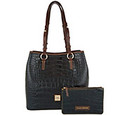 As Is Dooney & Bourke Croco Leather Shoulder Bag - A293382