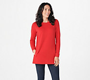 Denim & Co. Active Crew Neck Long Sleeve Tunic - A297782