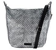 Vera Bradley Carson Metallic Microfiber Zip Top Hobo Handbag - A300782