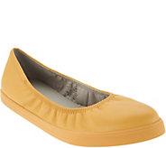 Lori Goldstein Collection Slip On Leather Flat with Elastic - A302882