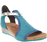 Naot Leather Wedge Sandals - Fiona - A303482
