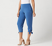 Every Day by Susan Graver Regular Liquid Knit Pants with Ties - A304082