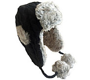Nirvanna Cable Russian Earflap with Faux Fur Lining - A326282
